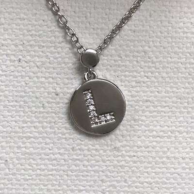 "Initial Necklace ""L"""