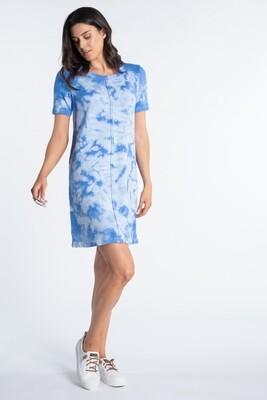 Blue Bonnet Tie Dye T-shirt Dress