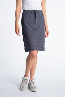 Navy White Stripe Skirt