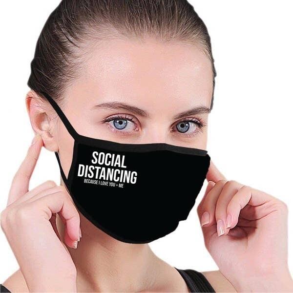 Premium Black Mask w Message (ADULT)