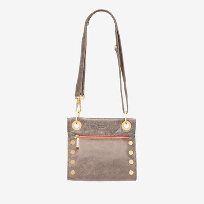 Hammitt Tony Crossbody Bag - Pewter w Red Zipper