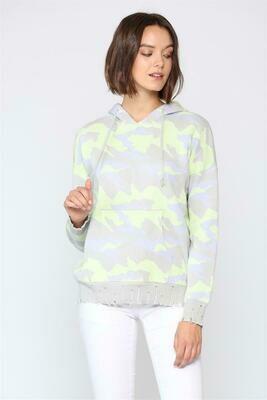 Neon Lime Camo Hoody Sweater