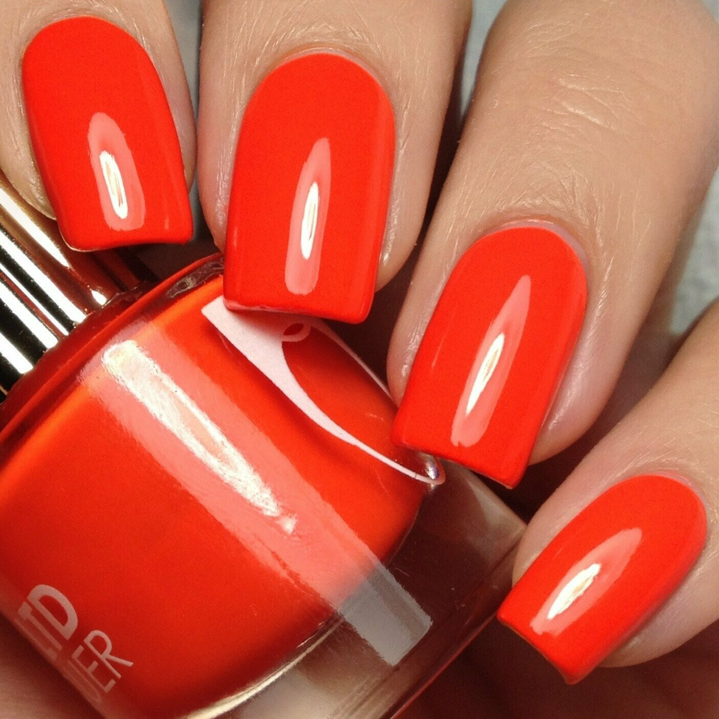 "Nail Polish in ""Fastlane"" Orange"