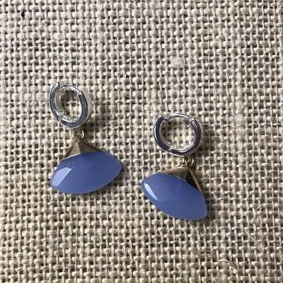 Periwinkle Blue Stone Drop Earrings