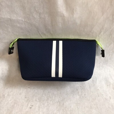 Erin Zipper Pouch Navy White