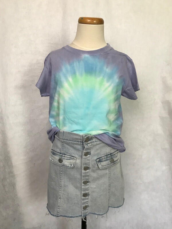 Girls Tie Dye Pocket Tee