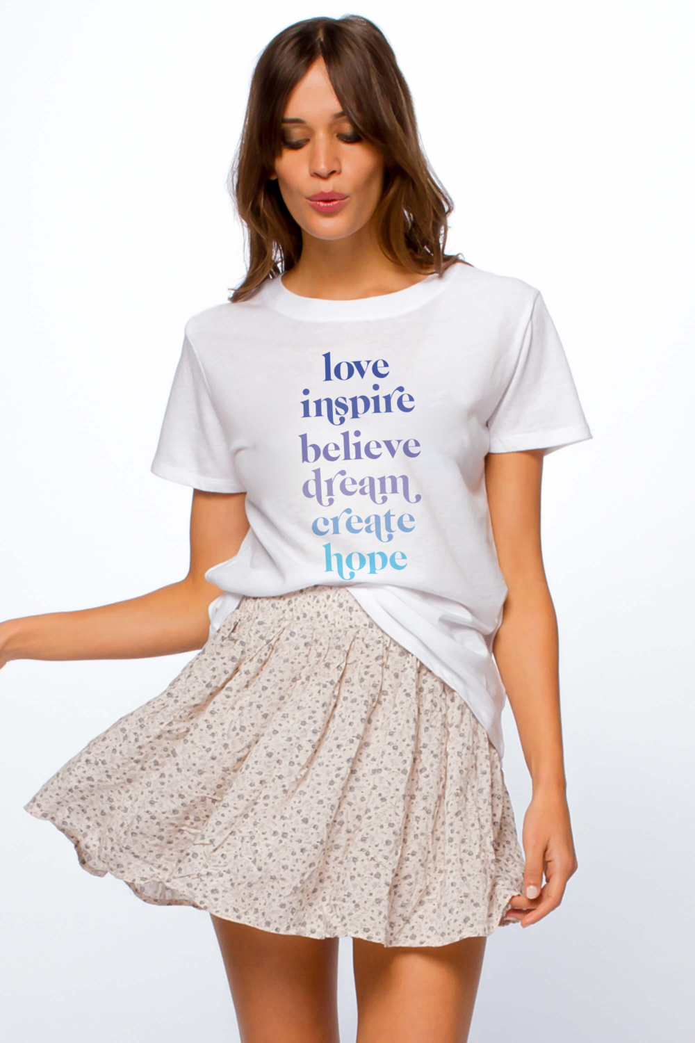 Love List Loose Tee - White