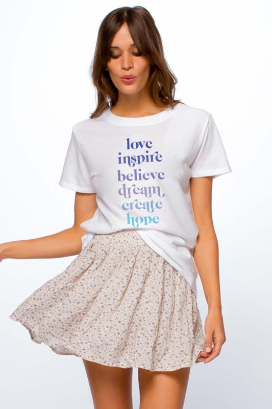 Love List Loose Tee - White