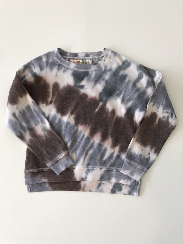 Girls Earthtone & Blue Diagonal Dye Pullover