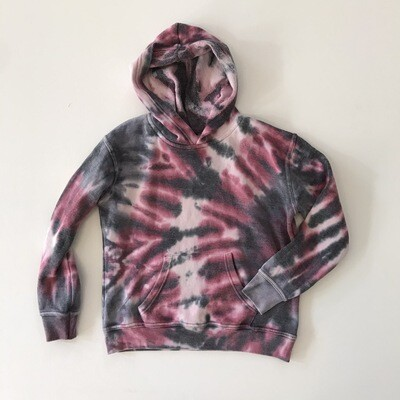 Girls Cranberry Vortex Tie Dye Hoody