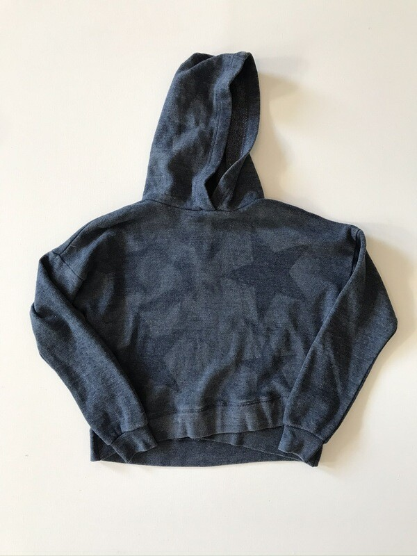 Girls Navy Fleece Star Hoody