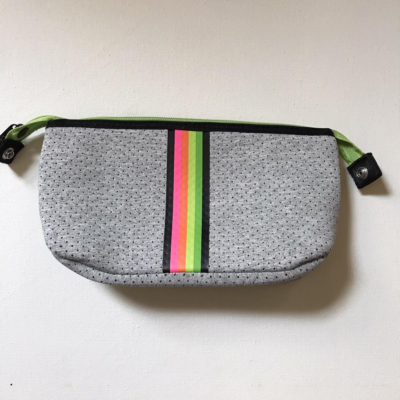 Erin Zipper Pouch - Glow Rainbow Stripe