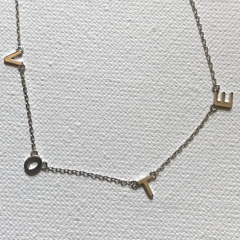 VOTE Necklace - Silver