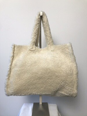 Teddy Tote Bag Ivory