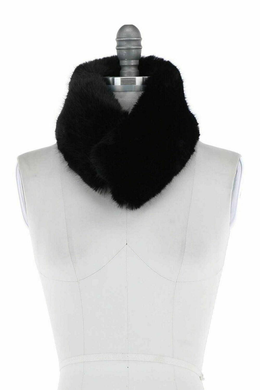 Faux Fur Scarf Collar BLACK