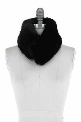 Faux Fur Scarf Collar BLACK