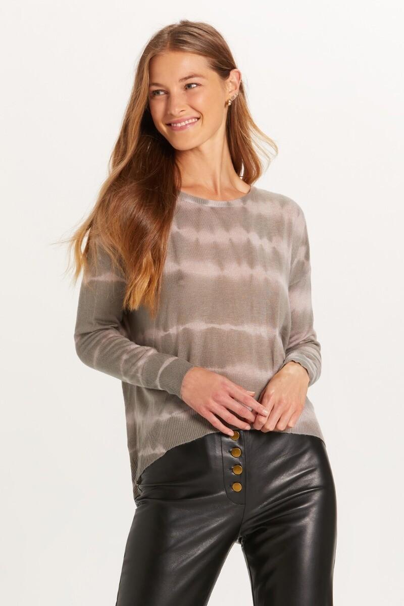 Grey Nude Tie Dye Sweater