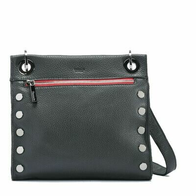 Hammitt Tony - Black w Red Zip Gunmetal Hardware
