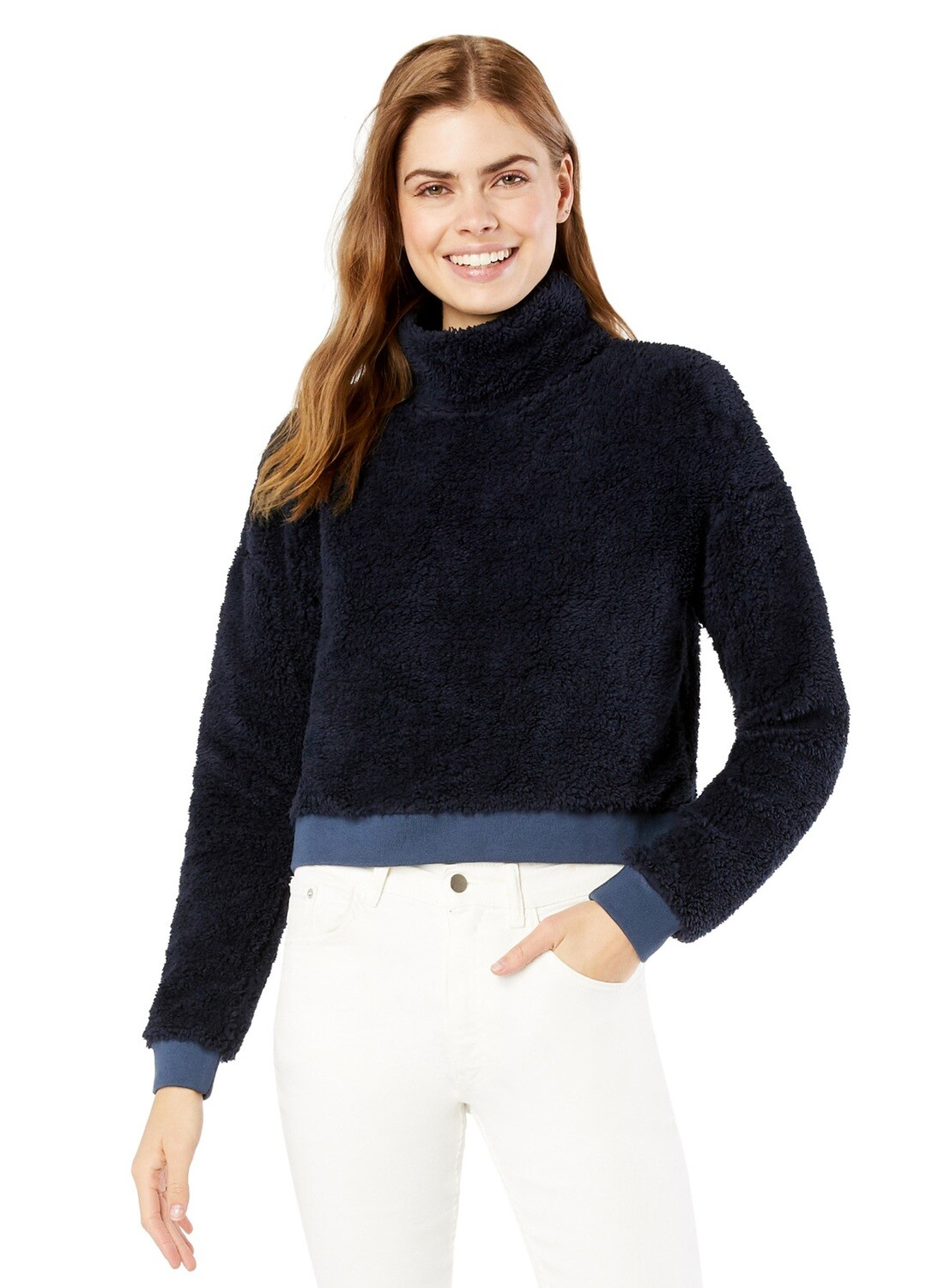 All Time Crop Pullover - Navy