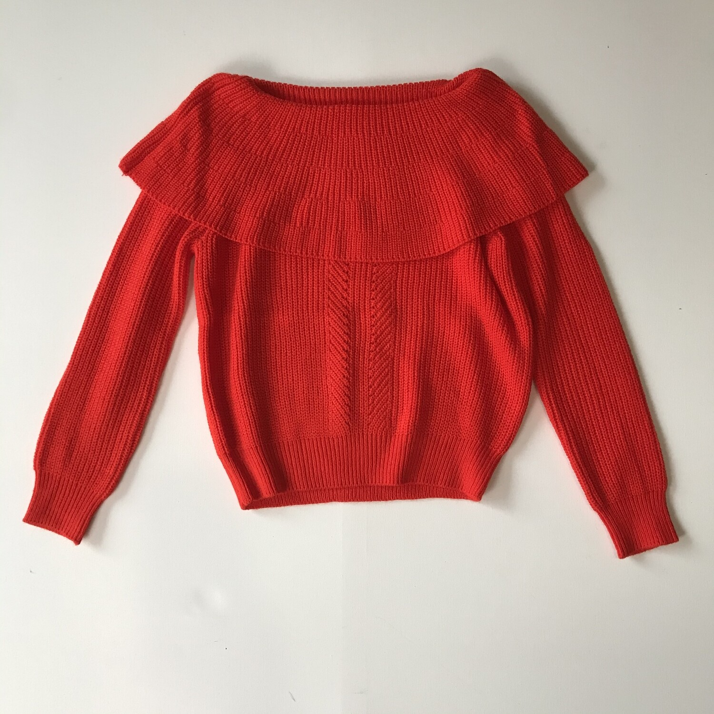 Tangerine Off Shoulder Sweater