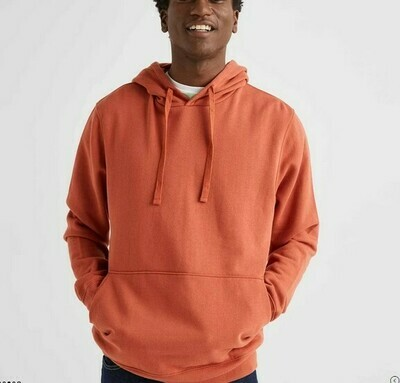 Men's Recycled Fleece Pullover Hoody - CINNAMON