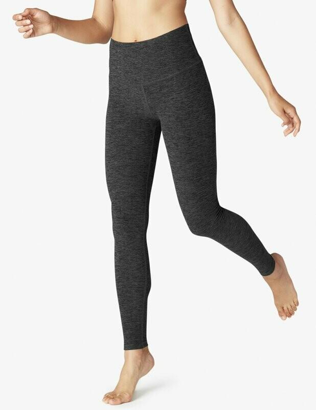 High Waist Long Legging - Black/Charcoal