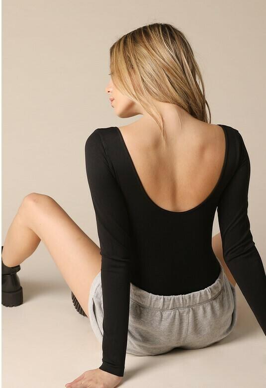 Low Back Bodysuit - Black
