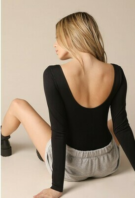 Low Back Bodysuit - Black