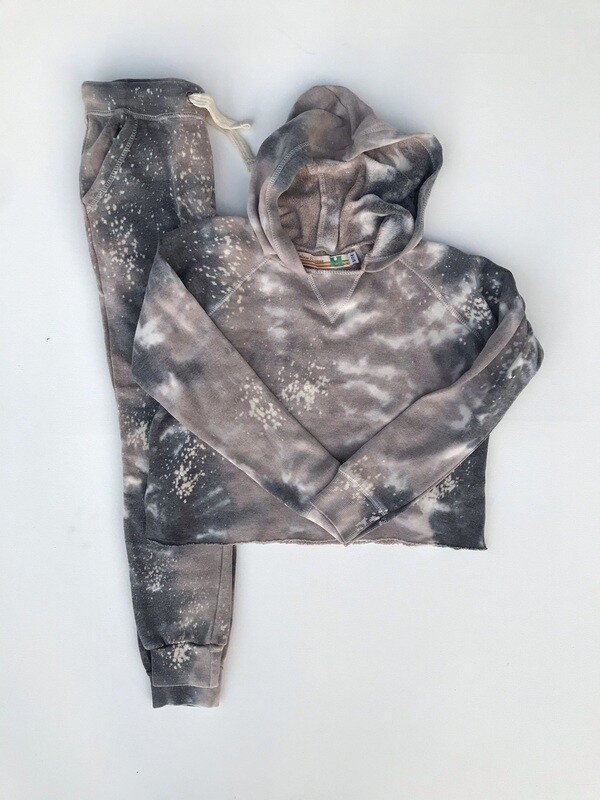 Girls Khaki Splatter Jogger