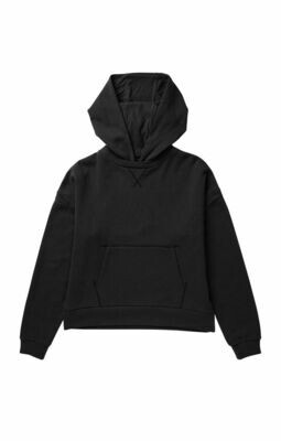 Women's Recycled Fleece Hoody - Black