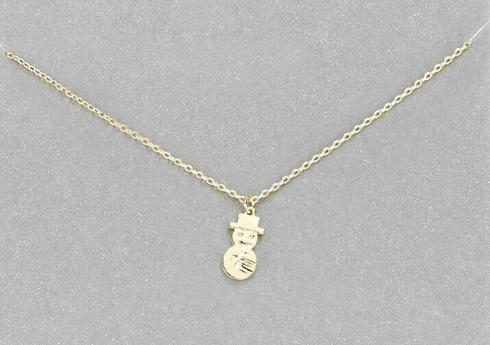 Snowman Charm Necklace