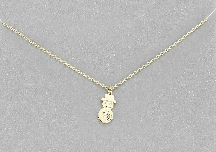 Snowman Charm Necklace