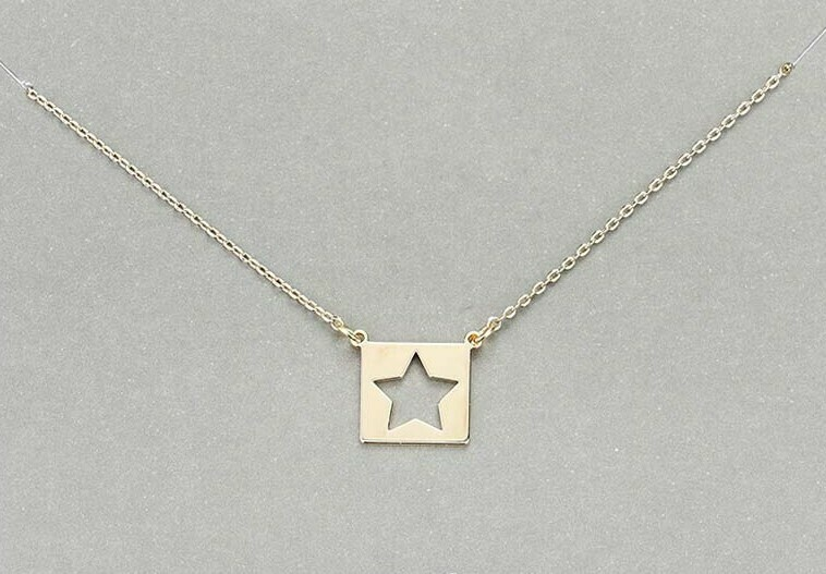 Star Cutout Charm Necklace