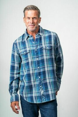 Men's 2 Pocket Plaid Shirt
