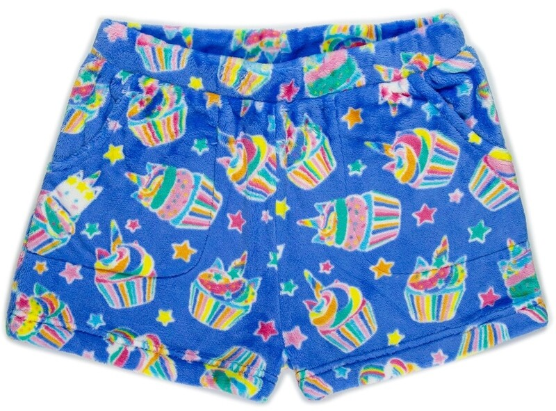 Girls' Fleece UNICORN CUPCAKE Lounge Shorts