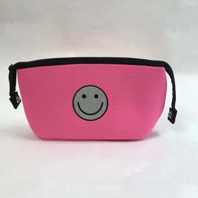 Erin Zipper Pouch Pink Smiley