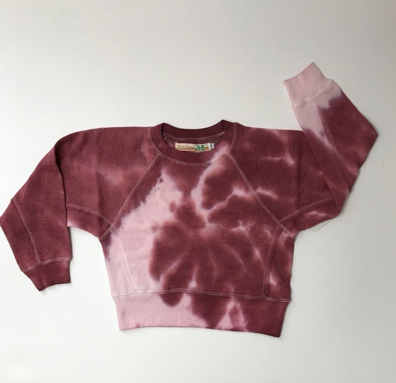 Girls' Burgundy Tie Dye Sweatshirt