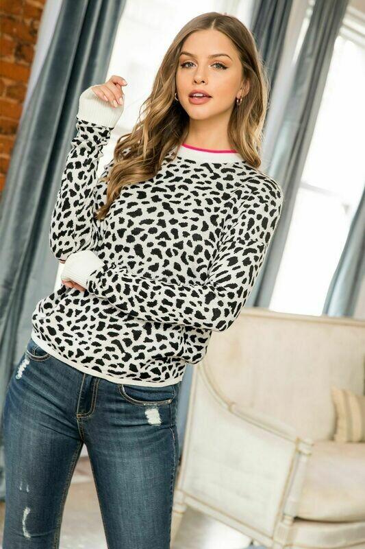 Dalmatian Black White Sweater