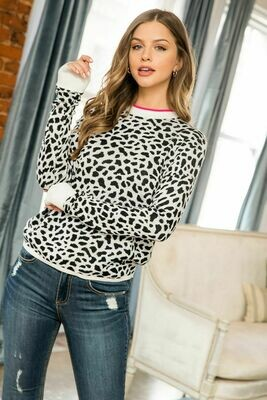 Dalmatian Black White Sweater