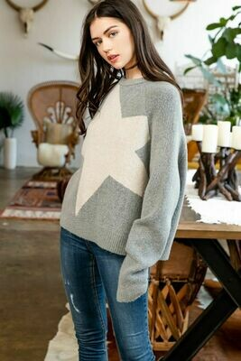 Large Star Sweater