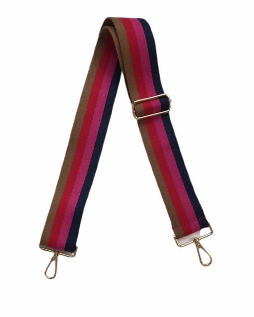 Bag Strap - Hot Pink Stripe