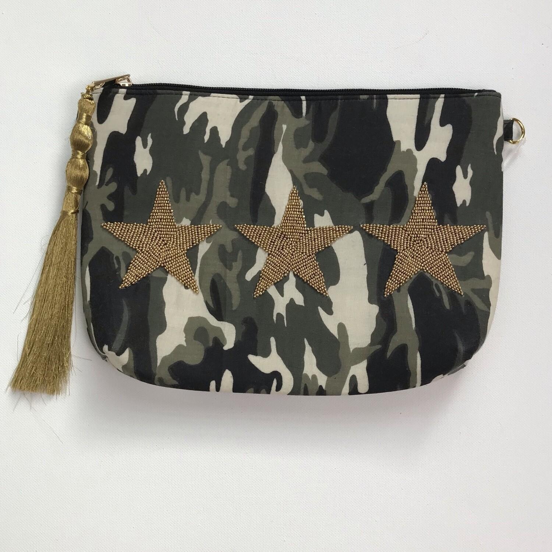 Camo Bag w Gold Stars