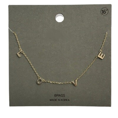 Love Letters Necklace - Gold