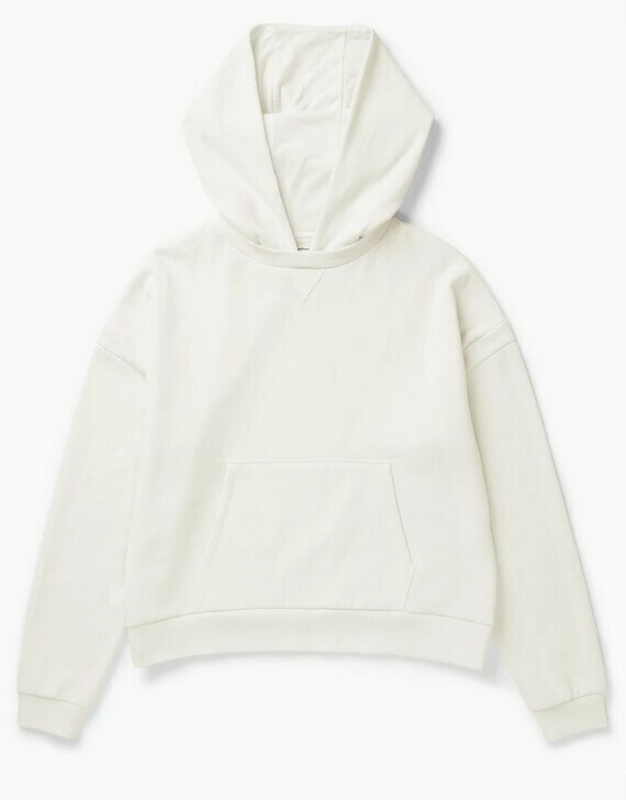 Women's Recycled Fleece Hoody - Bone White