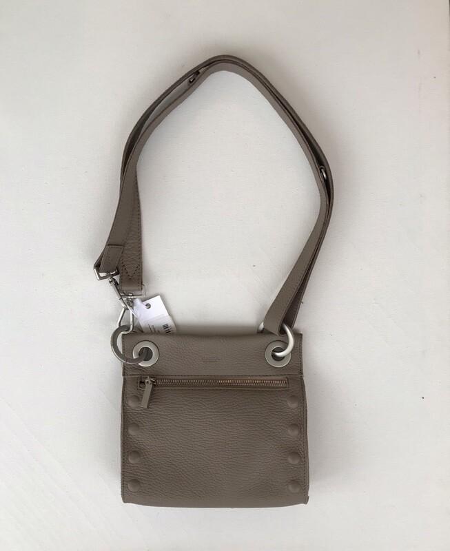 Hammitt Tony Bag Small - Quicksand Taupe with Brush Silver - Crossbody