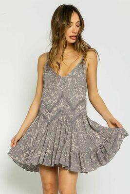 Silver Open Back Sundress