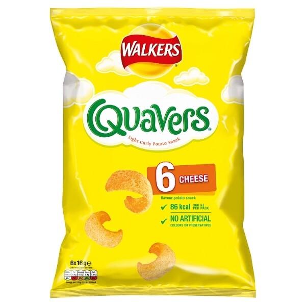 Walkers Quavers 6 Pk