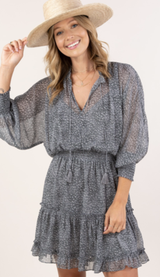 cuffed sleeve dress