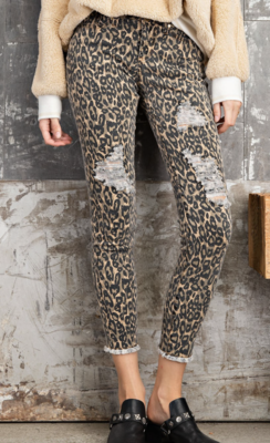 Animal Print Dest Jeans