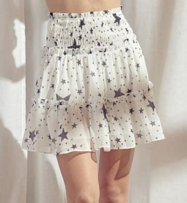 Star Smocked Skirt